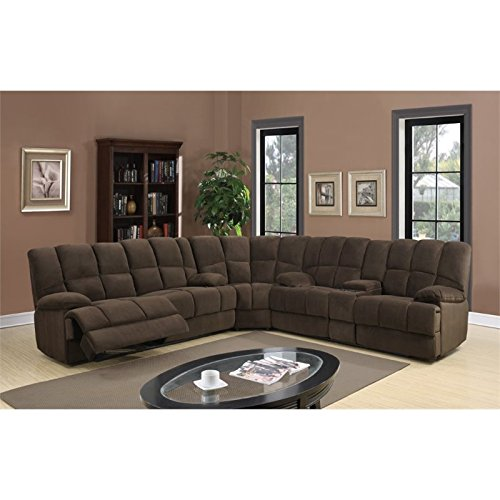 Global Furniture U201 - SECTIONAL Dona Sectional, Chocolate