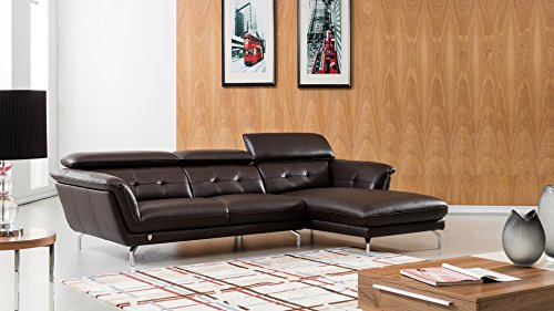 American Eagle Furniture EK-L083L-DC Fremont Modern Italian Leather ...