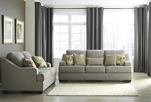 Benchcraft - Mandee Contemporary Sofa Sleeper - Queen Size Mattress Included - Pewter