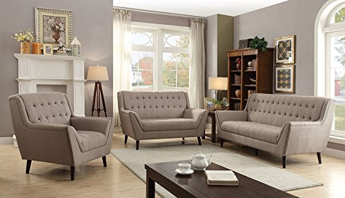 ACME Watonga Light Brown Linen Loveseat