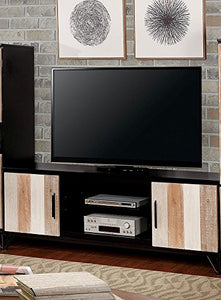 "Binche Espresso/Multiple Wood TV Stand 72"" by Furniture of America"
