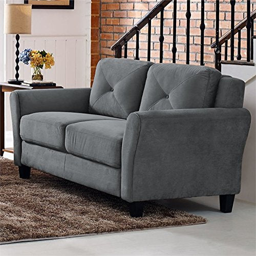 Hawthorne Collections Loveseat in Dark Gray