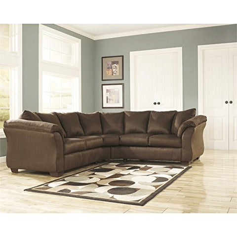 BOWERY HILL L-Shaped Mic Sectional in Cafe