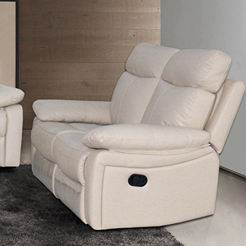 AC Pacific Ryker Leather Reclining Loveseat Taupe