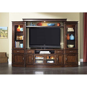 Liberty Furniture Hanover 3 Piece Entertainment Center in Cherry Spice
