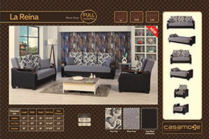 LA Reina Moon Brown Functional Livingroom (Gray)