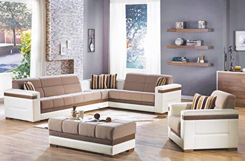 ISTIKBAL Multifunctional Furniture Living Room SECTIONAL Sofa Platin Mustard Moon Collection