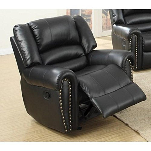 Benzara BM171448 Leatherette, Black Recliner