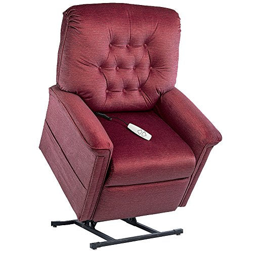"NM-122PW Mega Motion Lift Chair (Bordeaux) Suggested Height. 5' to 5' 4"" Rated for 375.00. Free Curbside Delivery."