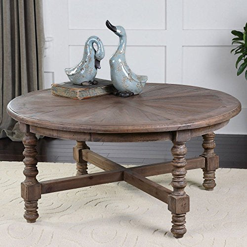 Uttermost 24345 Samuelle Wooden Coffee Table, Brown