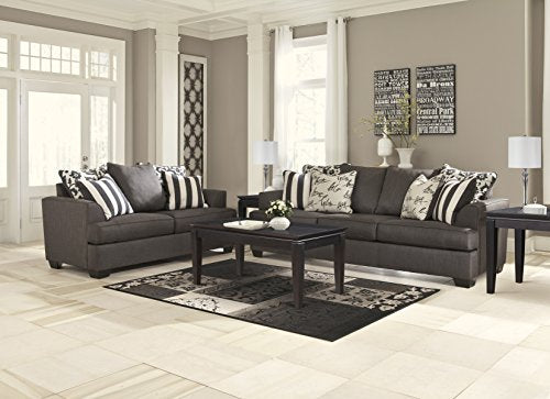 Ashley Furniture Signature Design - Levon Sofa - Classic Style - Charcoal Gray