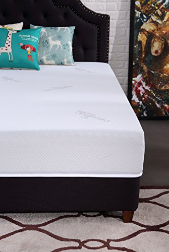 Oliver Smith - Natural Organic - Cooling Gel Ventilated Medium Firm Memory Sleep 12-Inch Memory Foam Luxury Mattress GreenFoam Certified - Queen