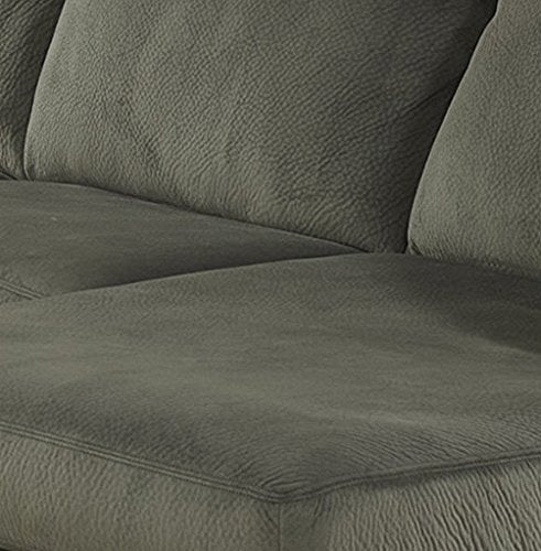 Signature Design by Ashley Jessa Place Sectional in Pewter Fabric