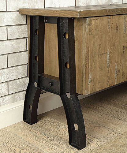 "Kirstin-II Rustic Oak Wood/Metal 60"" TV Stand by Furniture of America"