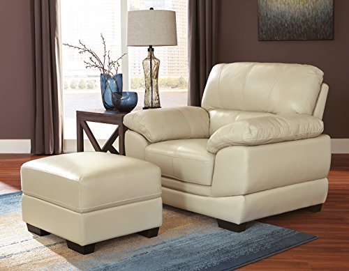 Ashley Furniture Signature Design - Fontenot Contemporary Leather Armchair - Cream