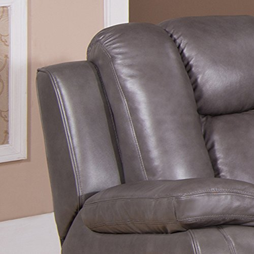 Hydeline Austin Reclining Loveseat, Smoke Grey