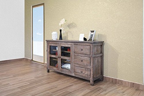 Greenview Weathered Gray TV Stand - 60 INCH