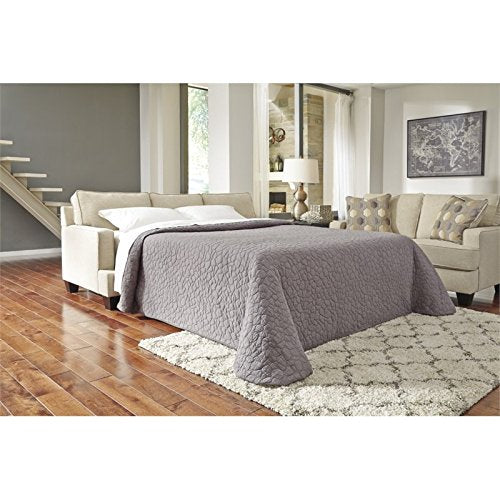 Benchcraft - Brielyn Contemporary Sleeper Sofa - Queen Size Mattress Included - Linen