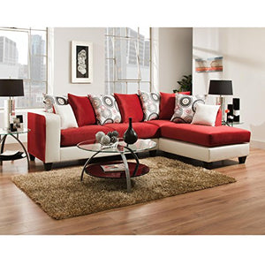 Flash Furniture Riverstone Implosion Red Velvet Sectional