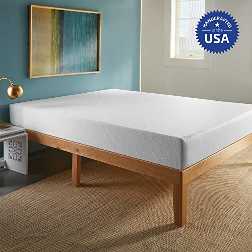 SLEEPINC. 10-Inch Memory Foam Mattress, Comfort Body Support, Bed in Box, Medium, Sleeps Cool, No Harmful Chemicals, Handcrafted in The USA, Full