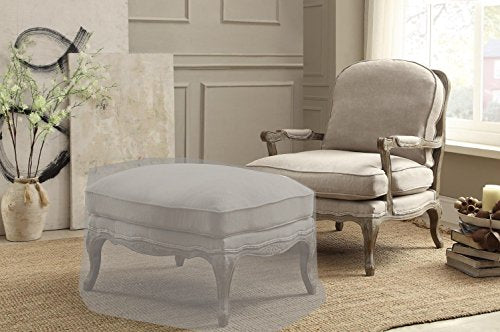 Wooden Accent Chair with Reversible Cushion Seat Beige