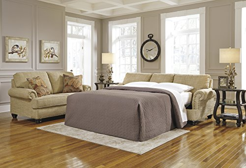 Benchcraft - Candoro Casual Sleeper Sofa - Queen Size Mattress Included - Oatmeal