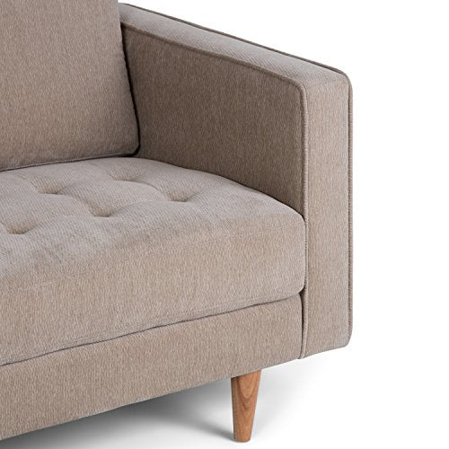 Simpli Home Blaine Sofa, Light Warm Grey