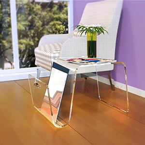 2017 New Designed Acrylic coffee tea table,Lucite magazine sofa beside tables