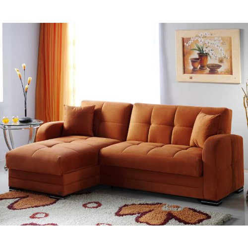 Kubo Rainbow Orange Sectional Sofa
