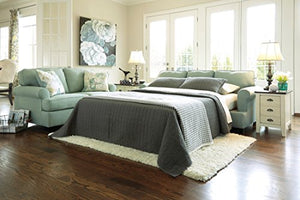 Signature Design by Ashley Daystar Seafoam Queen Sleeper Sofa