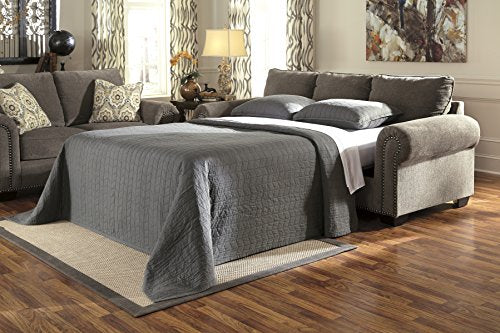 Benchcraft - Emelen Contemporary Sofa Sleeper - Queen Size Bed - Alloy Gray