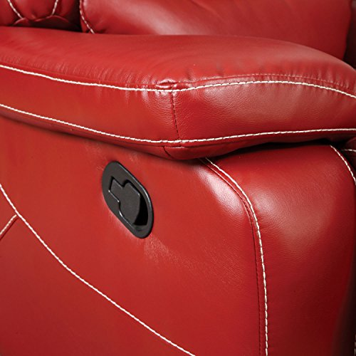 Furniture of America Dunham 2-Recliner Sofa, Red