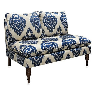 Skyline Furniture Armless Chaise in Diamond Blue