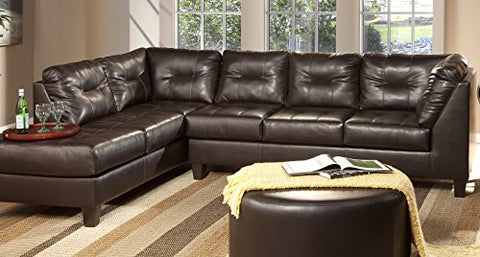 Serta Upholstery 2500LFCHS 2500LFCHS06 Transitional Style Left Facing Chaise in SanMar, Chocolate