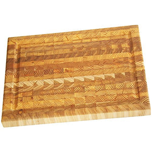 Larch Wood Canada End Grain Medium Carver's Cutting Board Handcrafted
