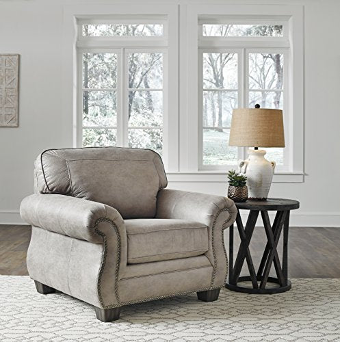 Olsberg Traditional Steel Color Fabric Chair