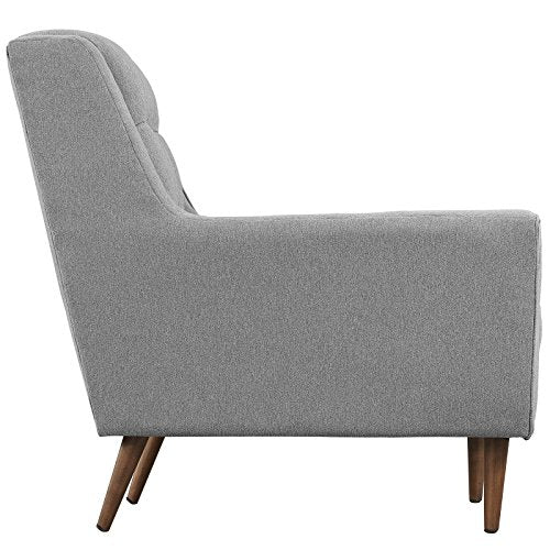 Modway Response Mid-Century Modern Sofa Upholstered Fabric in Expectation Gray