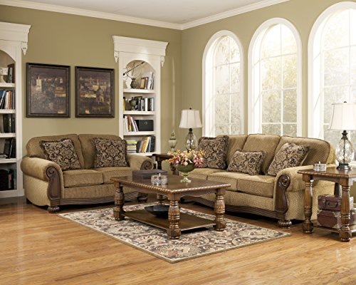 Ashley Furniture Signature Design - Lynnwood Sofa - Traditional Design - Amber
