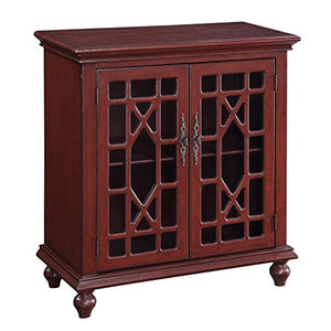 Christopher Knight Home Texture Red Two-Door Cabinet