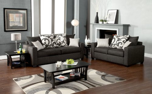Furniture of America Fleurille Modern Upholstered Sofa, Medium, Gray