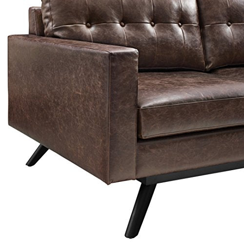 TOV Furniture Blake Antique RAF Sectional, Chestnut