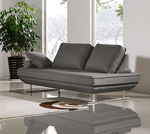Diamond Sofa Dolce Adjustable Sleeper Sofa Sofa in Gray