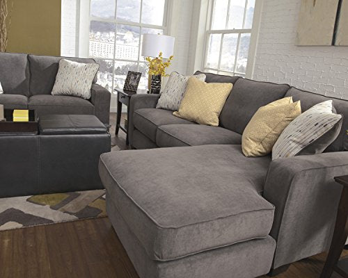 Ashley Hodan 7970018 93-Inch Sofa Chaise with Pillows Included Loose Seat Cushions and Track Arms in Marble