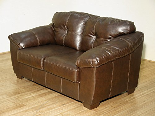 Cafe Faux Leather Loveseat
