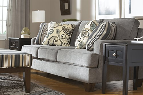 Yvette Contemporary Grey Fabric Sofa