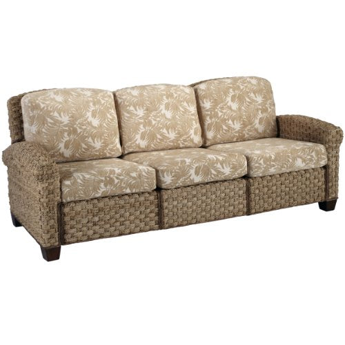 Home Styles Cabana Banana II 3-Seat Sofa, Honey Finish