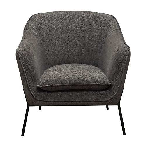 Diamond Furniture STATUSCHGR Status Accent Chair in Grey Fabric with Metal Leg