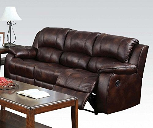 ACME 50510 Zanthe Motion Sectional Sofa, Brown Polished Microfiber