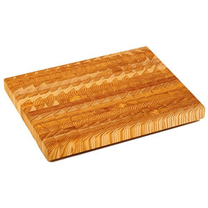 Larch Wood Canada End Grain Medium Cutting Board Handcrafted Professional