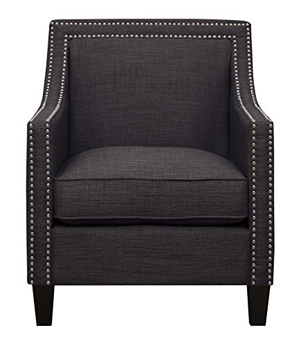 "Abbey Avenue A-GRA-0902P Grace Chair & Ottoman, 1"", Charcoal"